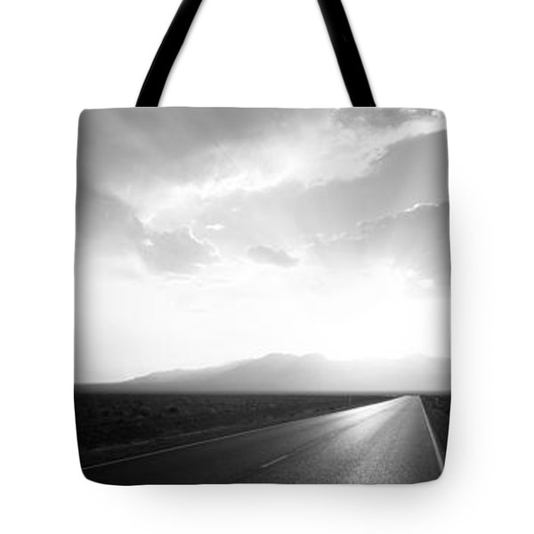 Paved Road At Sunset, Death Valley Tote Bag