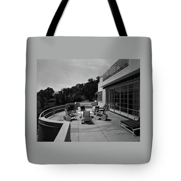 Paved Terrace At The Residence Of Mr. And Mrs Tote Bag
