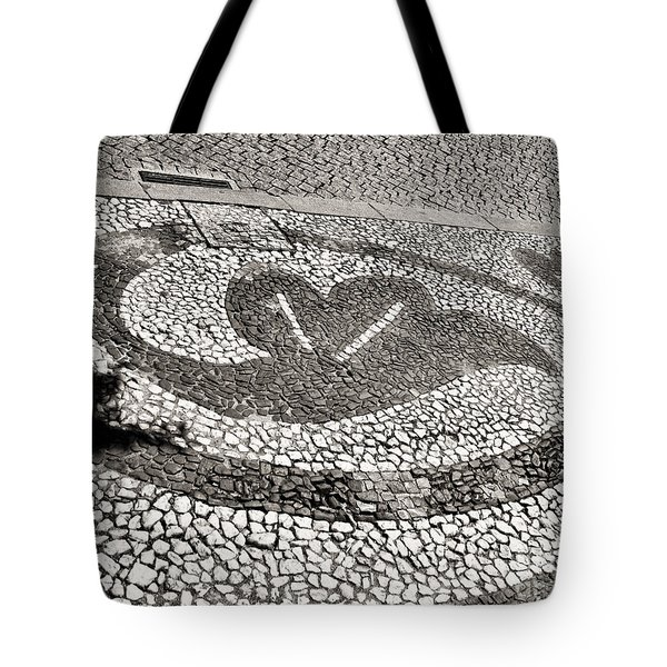 Tote Bag featuring the photograph Pavement Detail Portugal by Menega Sabidussi