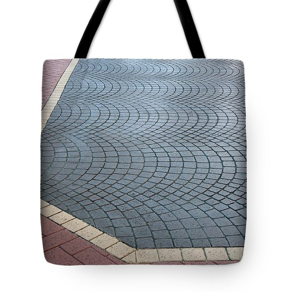 Tote Bag featuring the photograph Paving Bricks by Pete Trenholm