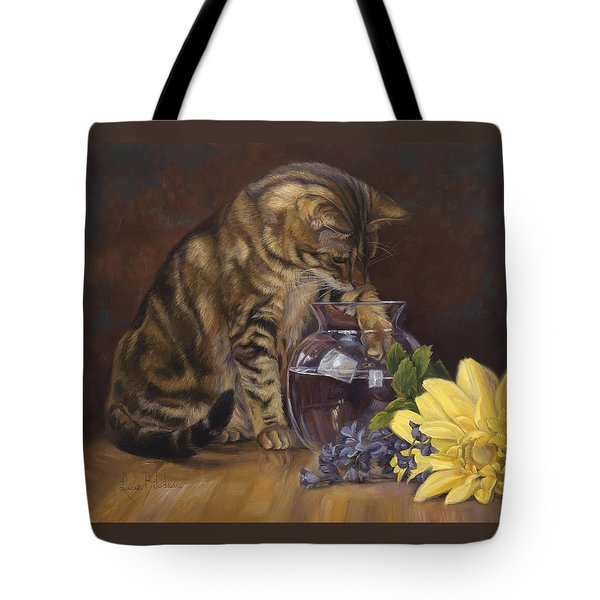Paw In The Vase Tote Bag by Lucie Bilodeau
