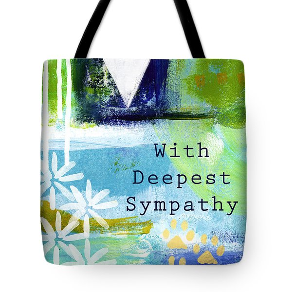 Paw Prints And Heart Sympathy Card Tote Bag