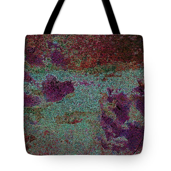 Paw Prints Cracked Purple Tote Bag