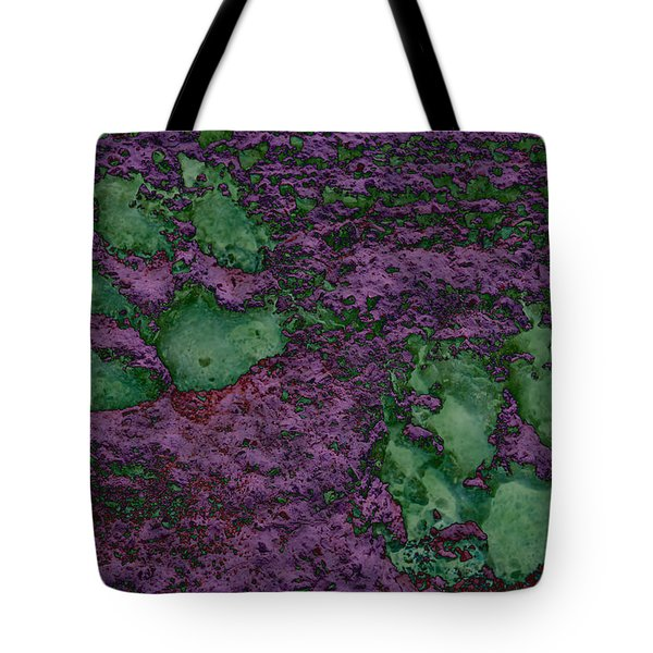 Paw Prints In Green And Mauve Tote Bag