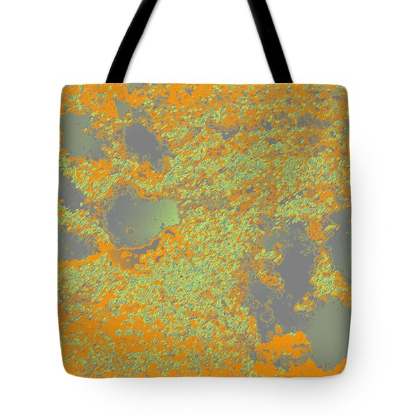 Paw Prints In Orange And Grey Tote Bag