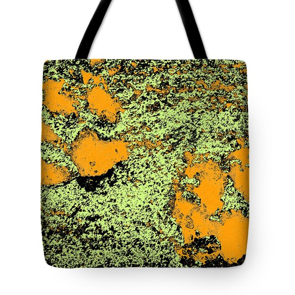 Paw Prints In Orange Lime And Black Tote Bag