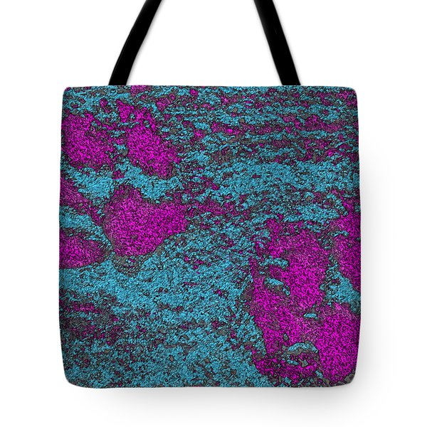 Paw Prints In Pink And Turquoise Tote Bag