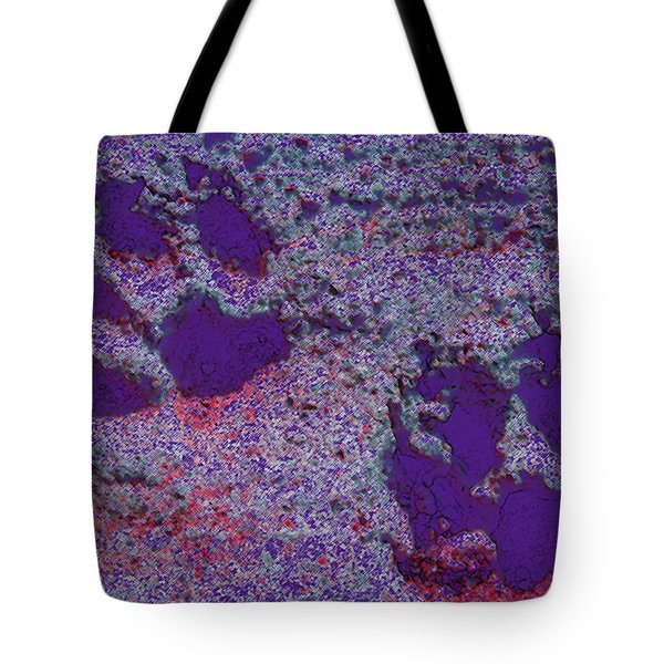 Paw Prints In Purple With Red Glow Tote Bag