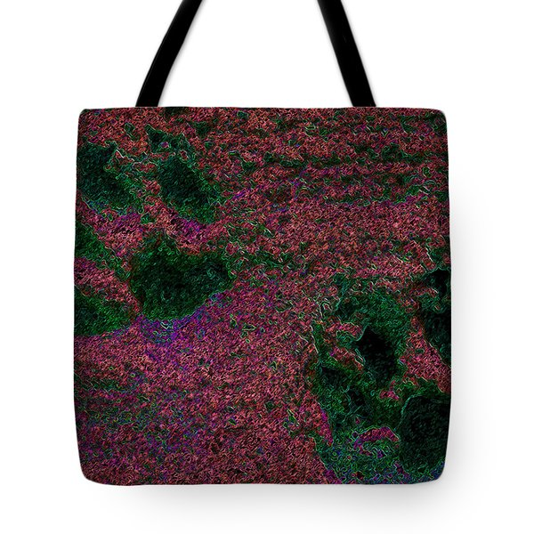 Paw Prints In Red And Green Tote Bag