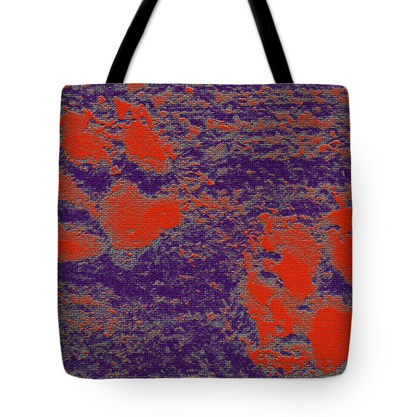 Paw Prints In Red And Purple Tote Bag