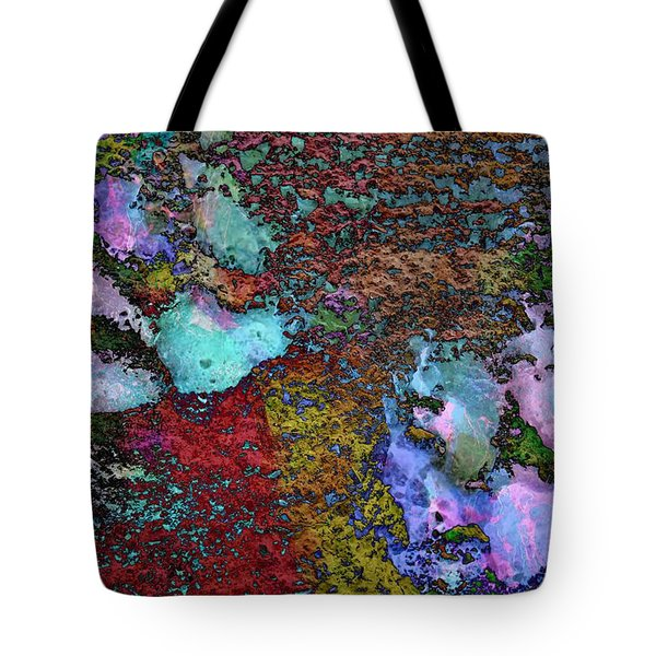 Paw Prints Lilac And Turquoise Pads Tote Bag