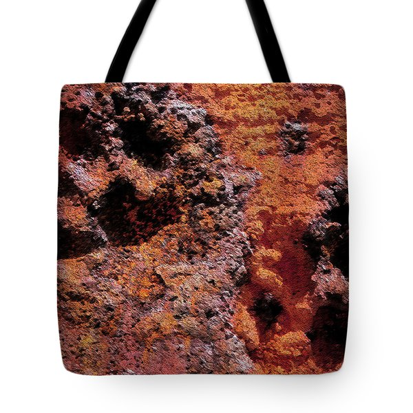 Paw Prints Rust Over Time Tote Bag