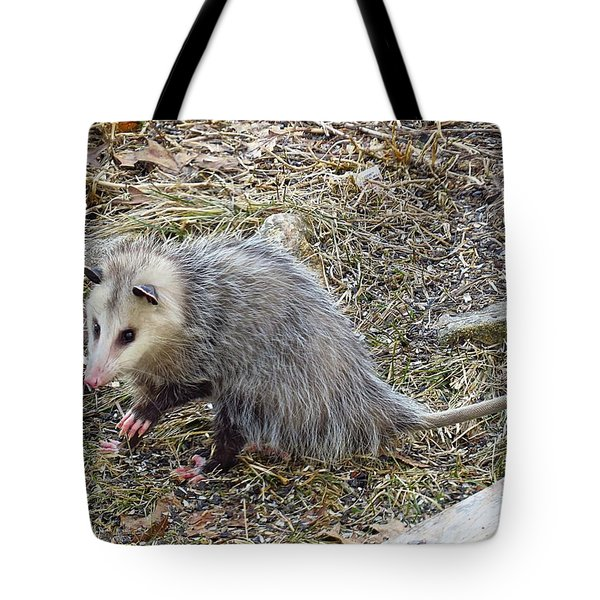 Pawing Possum Tote Bag