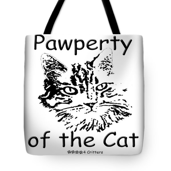 Tote Bag featuring the photograph Pawperty Of The Cat by Robyn Stacey