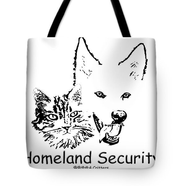 Tote Bag featuring the photograph Paws4critters Homeland Security by Robyn Stacey