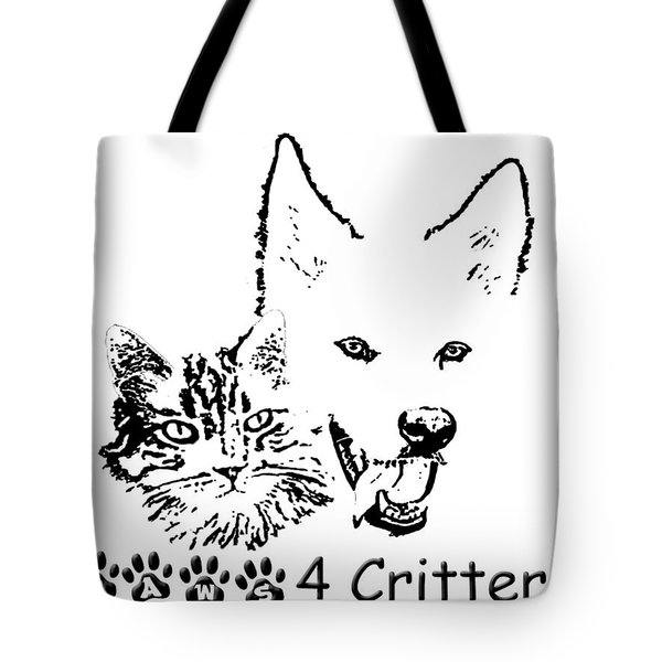 Tote Bag featuring the photograph Paws4critters by Robyn Stacey