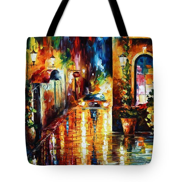Paying A Visit New Tote Bag by Leonid Afremov