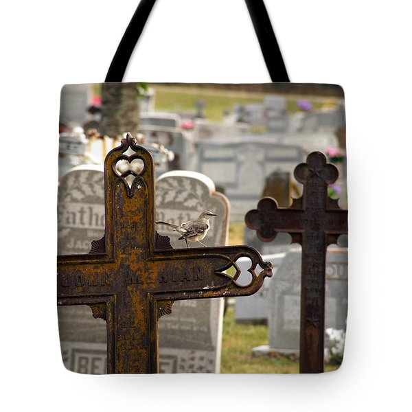 Paying Respect Tote Bag by Debi Demetrion