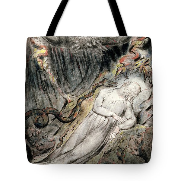 Pd.20-1950 Christs Troubled Sleep Tote Bag by William Blake