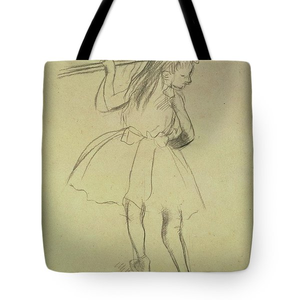 Girl Dancer At The Barre Tote Bag
