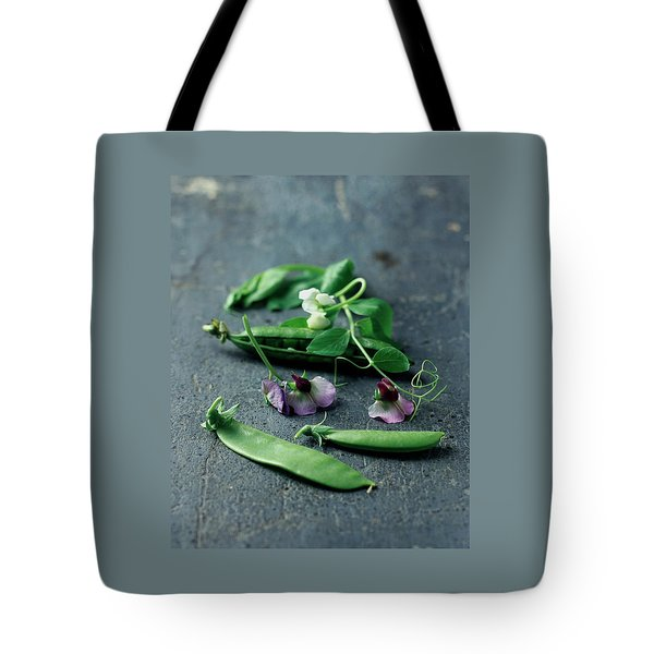 Pea Pods And Flowers Tote Bag