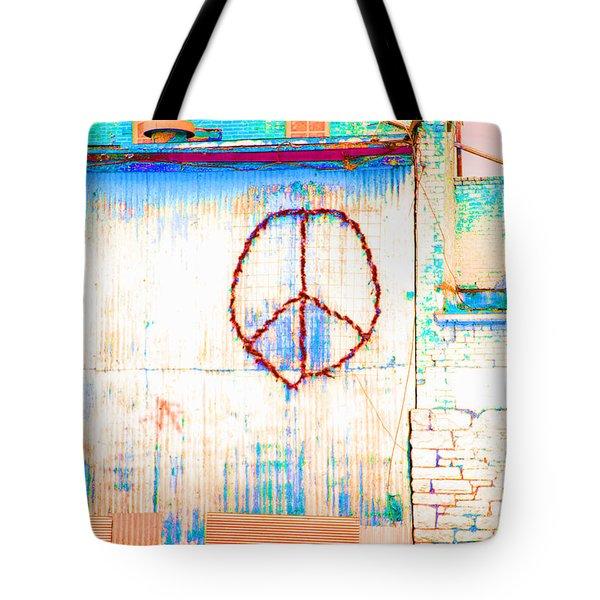 Peace 1 Tote Bag by Minnie Lippiatt