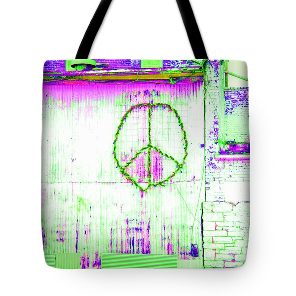 Tote Bag featuring the photograph Peace 2 by Minnie Lippiatt