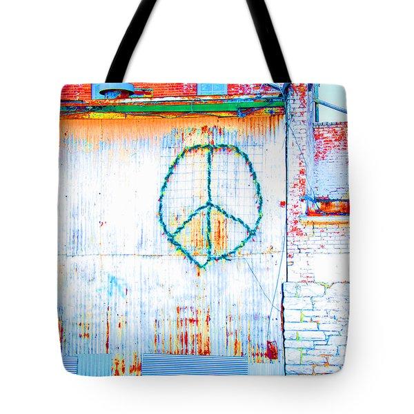 Peace 3 Tote Bag by Minnie Lippiatt