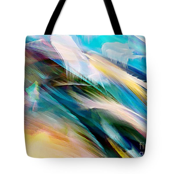 Tote Bag featuring the digital art Peace And Calm by Margie Chapman