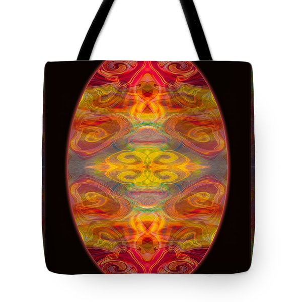Peace And Harmony Abstract Healing Art Tote Bag