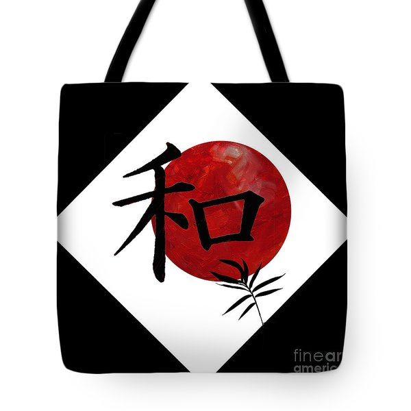 Peace And Harmony Tote Bag by Nola Lee Kelsey