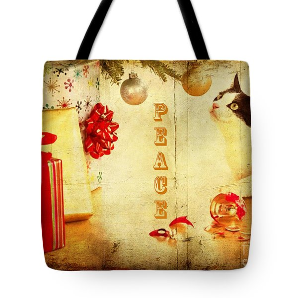 Tote Bag featuring the photograph Peace And Joy To All by Chris Armytage