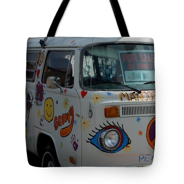 Tote Bag featuring the photograph Peace And Love Van by Dany Lison