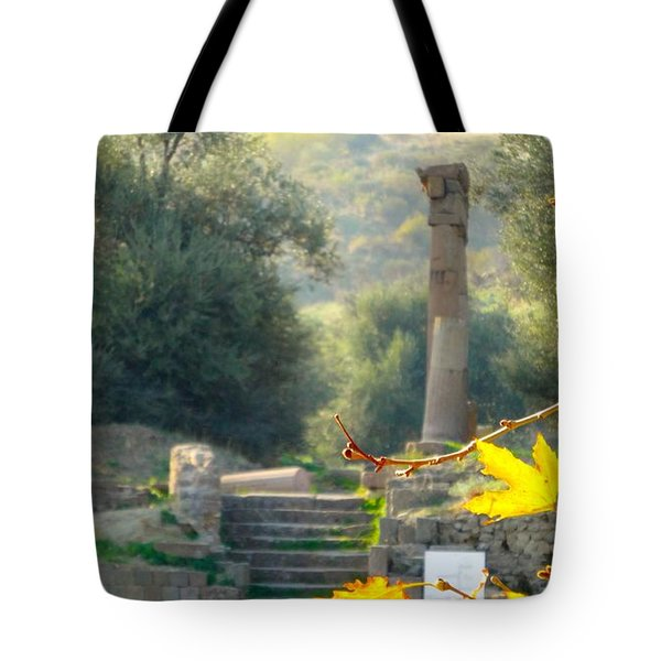 Tote Bag featuring the photograph Peace At Asclepion by Alan Lakin