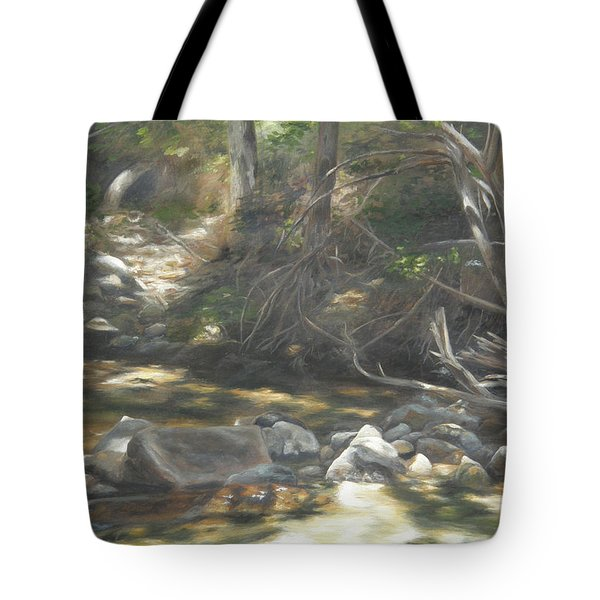 Tote Bag featuring the painting Peace At Darby by Lori Brackett