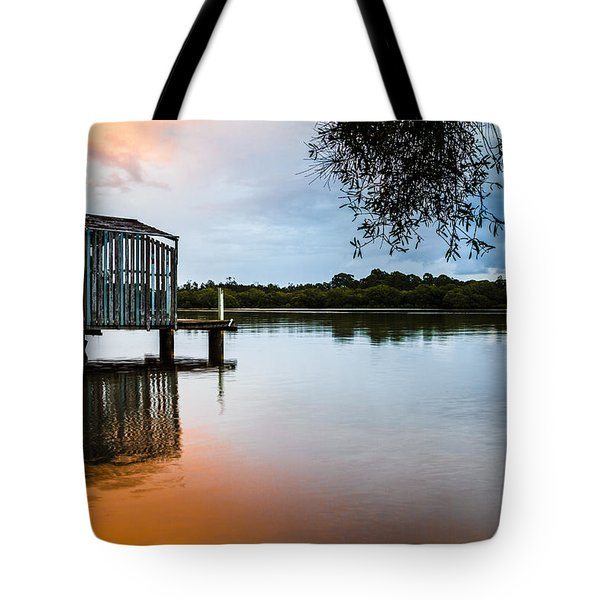 Peace At Pete's Jetty Tote Bag by Peta Thames