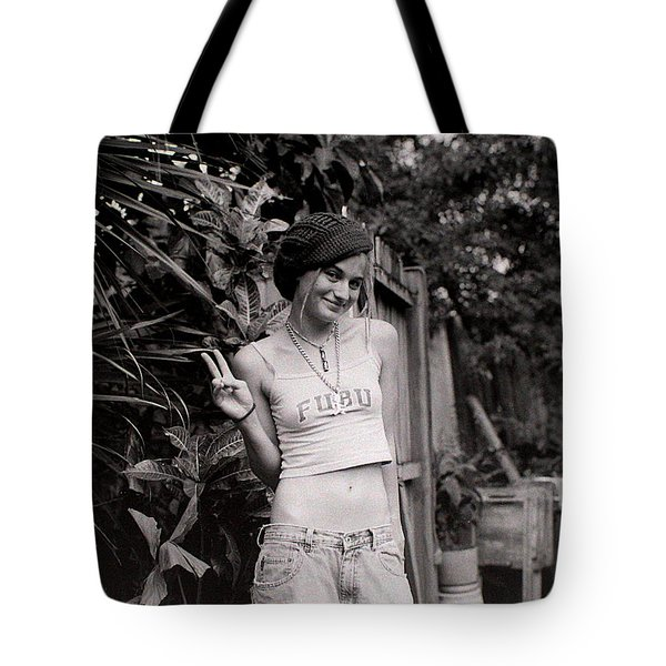 Tote Bag featuring the photograph Peace Chick by Greg Allore