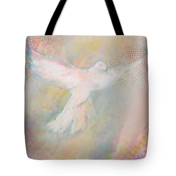 Peace Dove Tote Bag by Anne Cameron Cutri