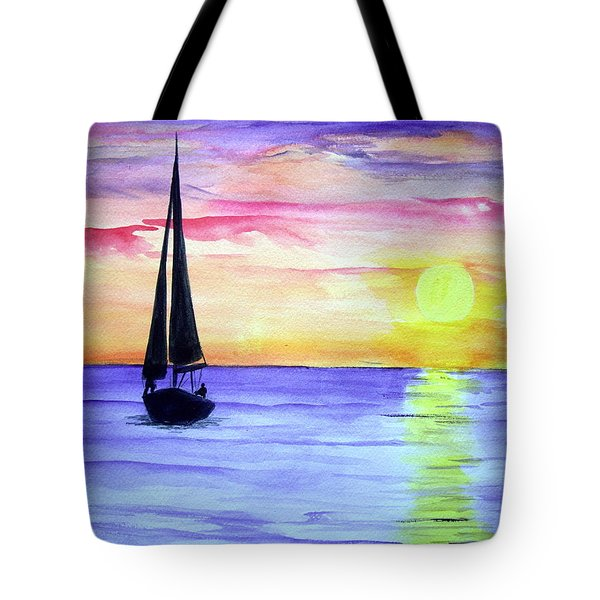 Tote Bag featuring the painting Peace by Ellen Canfield