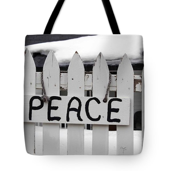 Tote Bag featuring the photograph Peace by Fiona Kennard
