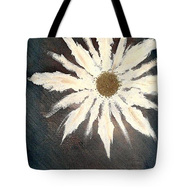 Tote Bag featuring the painting Peace Flower by Jacqueline McReynolds