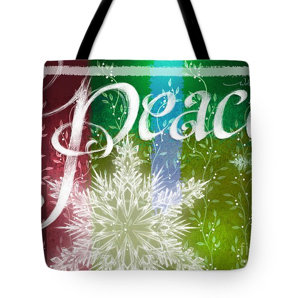 Peace Greeting Tote Bag