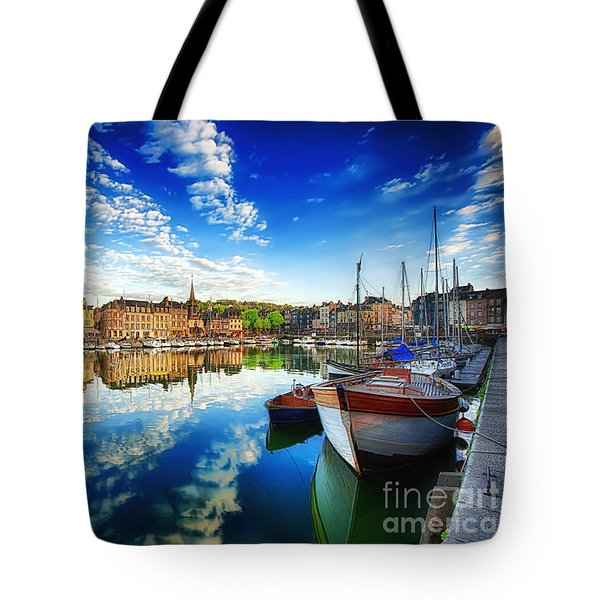 Tote Bag featuring the photograph Peace Honfleur by Jack Torcello