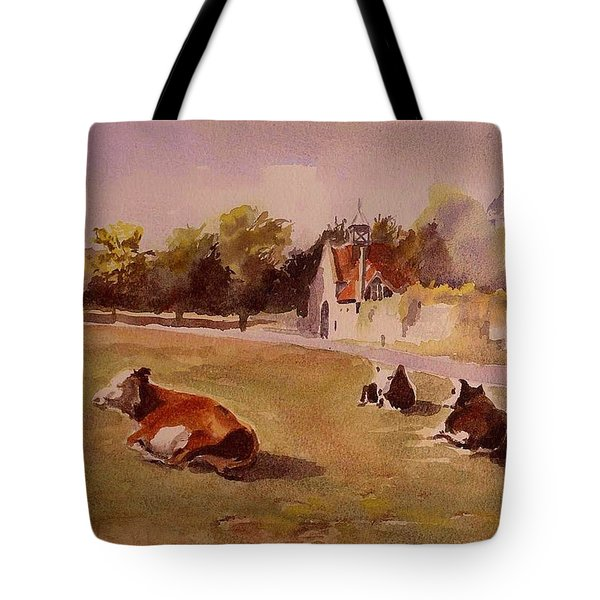 Tote Bag featuring the painting Peace In Beaulieu Uk by Beatrice Cloake