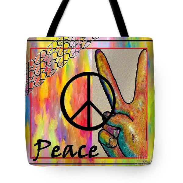 Peace In Every Color Tote Bag by Eloise Schneider