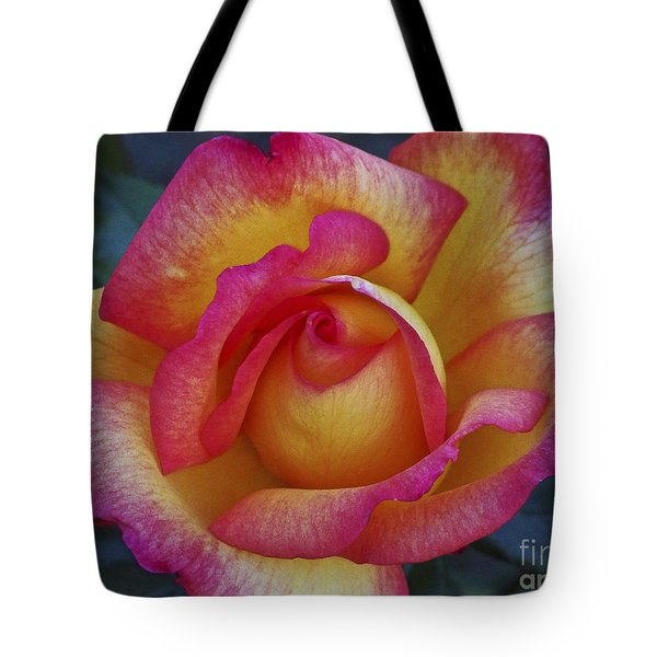 Peace In Floral Format Tote Bag by Kathy McClure