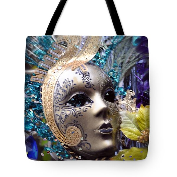 Tote Bag featuring the photograph Peace In The Mask by Amanda Eberly-Kudamik