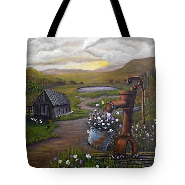 Peace In The Valley Tote Bag by Sheri Keith