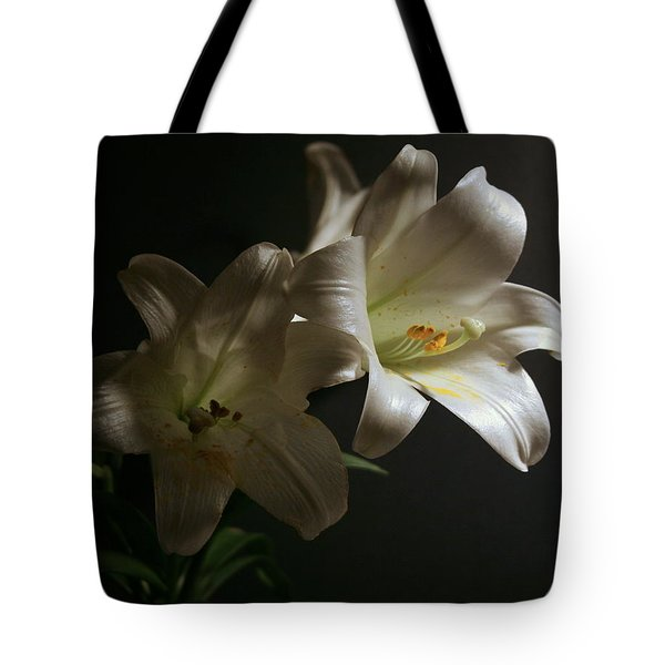 Peace Lily Tote Bag by Cathy Harper