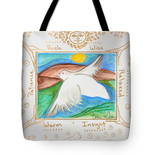 Peace Of Heaven Tote Bag by Cassie Sears